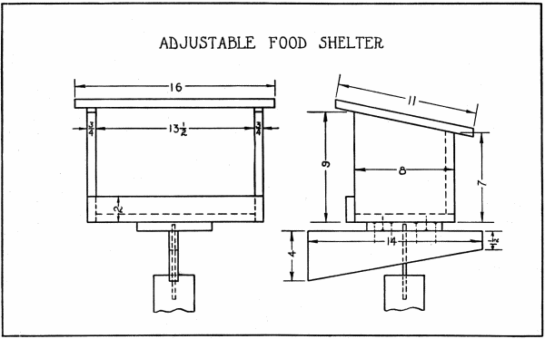 Bird Feeder Plans - DIY Adjustable Bird Feeder on a Base