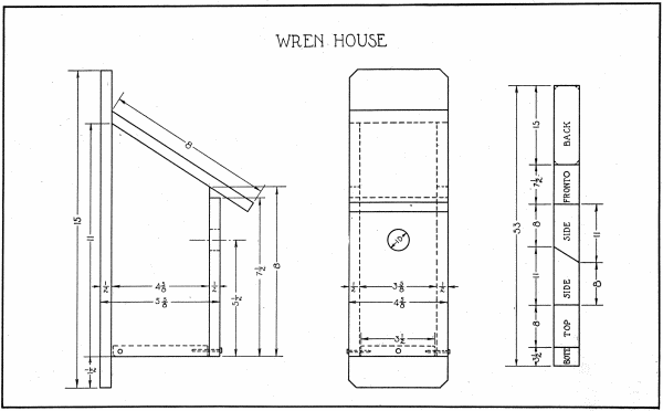 2 Free Wren House Plans - Build a Bird House with Free Plans