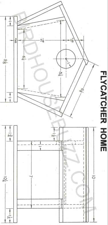 FREE WOODWORKING PLANS - BIRD HOUSE | Birdhouse Blueprints | Blue
