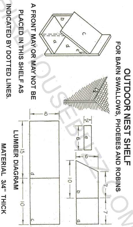 Instructions for dove bird houses for Dove bird house plans